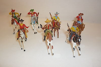 MERTEN - LOT - 4 cm SERIE - FIGUREN - WILDWEST - REITER ZU  PFERD -(WILDW.28)