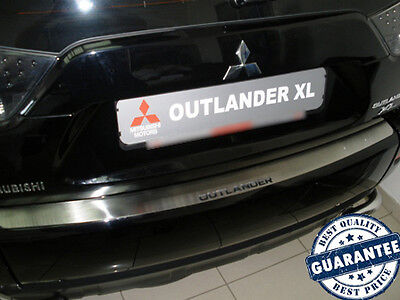 Mitsubishi OUTLANDER XL 2006-2012 Rear Bumper Protector Stainless Steel Scuff