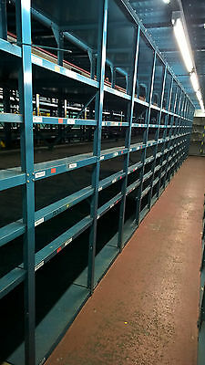 8 bays of Heavy duty commercial racking EX aerospace warehouse racking