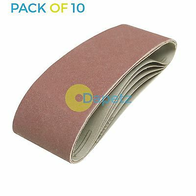 10 x 75mm x 533 mm 120 Grit Fine Sander Sanding Belt Belts 75 533 mm