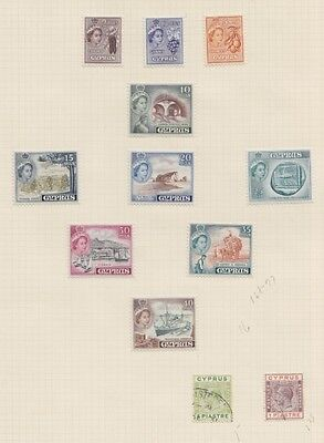 1934 To 1955 Cyprus Lot On Old's Pages Album - Mint H , Lh And Used