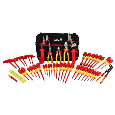 Wiha 32874 Insulated Tool Set with Pliers, Cutters, Nut Drivers, Screwdrivers