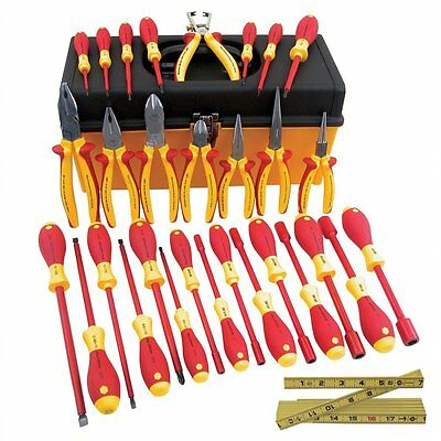 Wiha 32896 Master Electrician Insulated Pliers and Screwdrivers Set