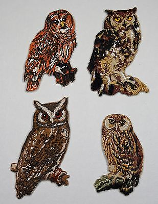 Brown Owl Tawny Owl Embroidered Motif Iron/Sew On Embroidery Patch Badge