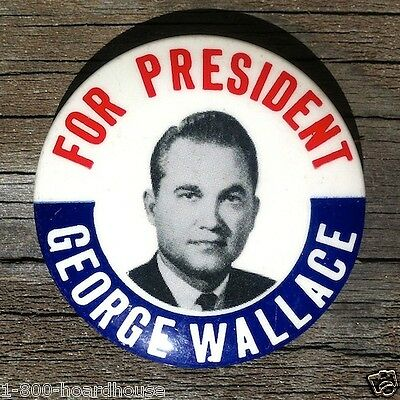 10 Original GEORGE WALLACE for PRESIDENT Campaign Pinback Badge Pin NOS 1960s