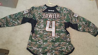 135e460ff usa reebok nhl anaheim ducks 4 cam fowler pre game worn and signed camo  jersey f8ad4