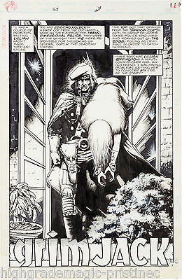 1985 Grimjack #7 Timothy Truman Signed Original Art Complete 20 Page Story