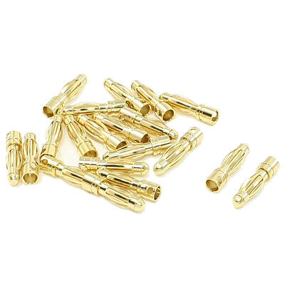 20pcs RC Model Battery Male Banana Bullet Connector Plug 4mm SY AU