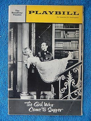 The Gal Who Came To Supper - Broadway Theatre Playbill - March 1964 - Henderson