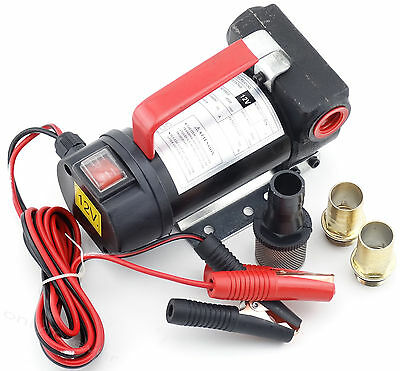 12v DC Electric Fuel Oil Diesel Transfer Pump 2400L/h Heavy Duty Vehicle Truck