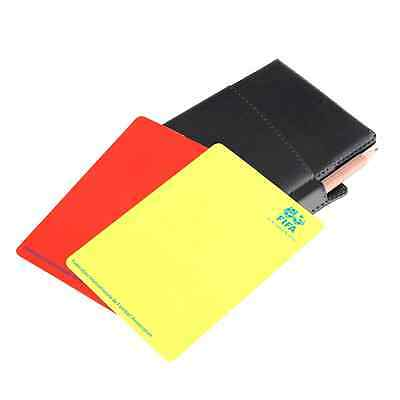 Football Soccer Referee Booklet Wallet Notebook With Red Yellow Cards