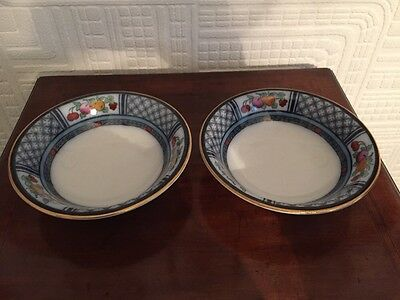Pair Of Stunning Losol Ware Napier Cereal Bowls