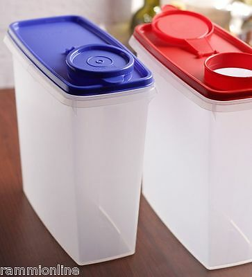Tupperware Cereal Storer Storage Container 13 Cup Red & Blue Seal New-1 Piece
