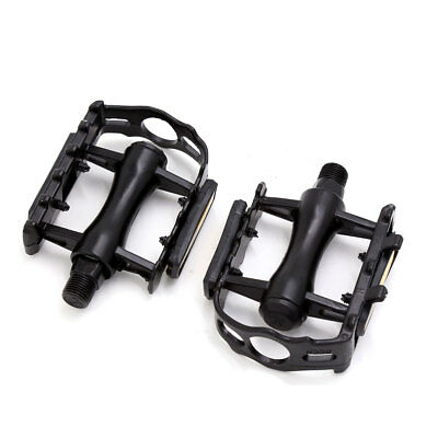 Pair Orange Reflector Metal Anti-slip Mountain Bike Bicycle Platform Flat Pedal