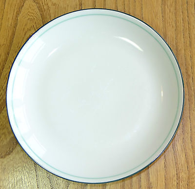 Denby Intro Tea or Side Plate - pale cream front with a dark green reverse