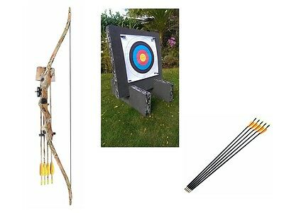 Kids Archery Set Beginner Recurve Package with Target and Arrows - Camo