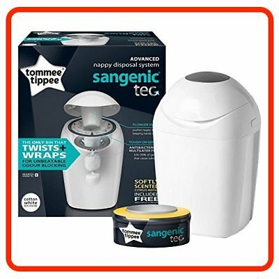Brand NEW Tommee Tippee Sangenic Hygiene Plus Nappy Wrapper TUB +1 Free Cassette