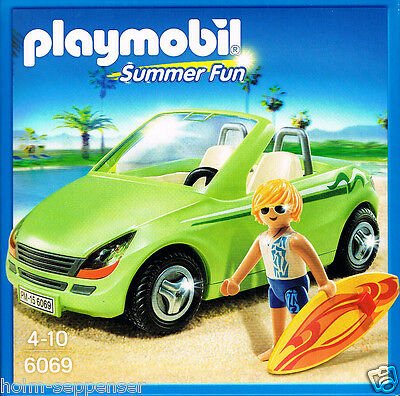 Playmobil 6069 Surf-Roadster Summer Fun Wellen Sommer Strand Boy Auto Neu OvP