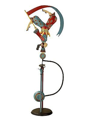 "Acrobat 24"" Sky Hook Tin Metal Teeter Totter Balance Toy Figurine Reproduction"