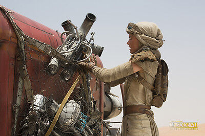 Movie POSTER Star Wars Ep 7 The Force Awakens Rey Daisy Ridley 20x30 #06