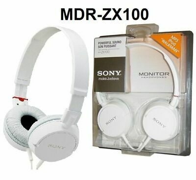 Sony MDR-ZX100 Outdoor Headband Headphones - White