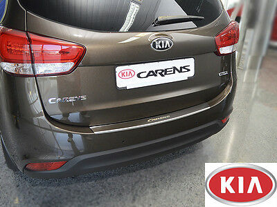 KIA CARENS IV 2012- Rear Bumper Profiled Protector Stainless Steel Cover