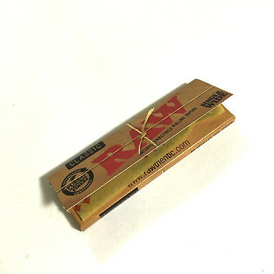 RAW Rolling Papers Classic 1.0 Single Wide Single Window (50 leaves/pack)