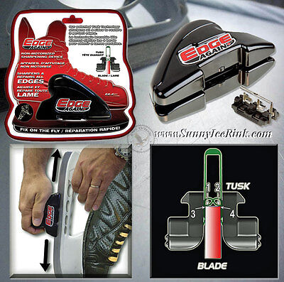 Hand-held manual hockey ice skate sharpener Edge Again