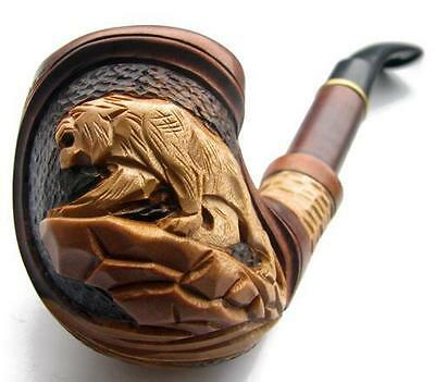 New Unique HAND CARVED Tobacco Smoking Pipe Pipes Pipa * Panther * Handmade