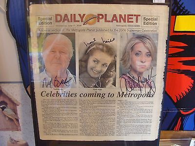 The Daily Planet Metropolis IL 2008 W/ Autographs from TV & Movies