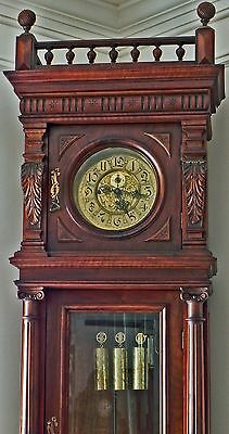 All Original Gustav Becker Grandfather Clock Circa 1880 Made In Freiburg Germany