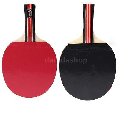 Professional Table Tennis Racket Ping Pong Paddle Bat Bag Outdoor Game Red V6UO