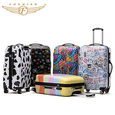 Hard Shell Rolling Luggage Suitcase 4Wheel ABS PC Travel Carry On Cabin Case Hot