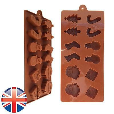*UK Seller* Silicone Christmas Tree Santa Chocolate Cake Bakeware Mould