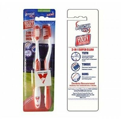 Sydney Swans Official AFL Toothbrush Twin Pack