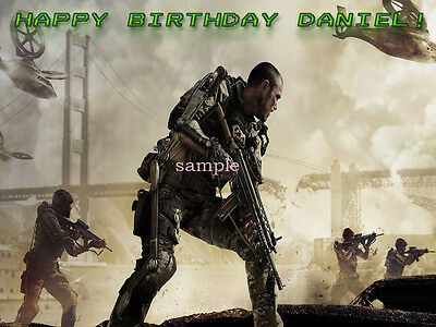 Call of DUTY Edible Photo CAKE Decoration Topper Icing Image FREE SHIPPING
