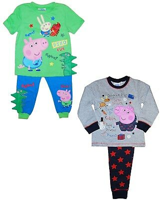 Boys George Pig Pyjamas Dinosaurs Xmas Chain 12 18 Months 2 3 4 5 6 Years