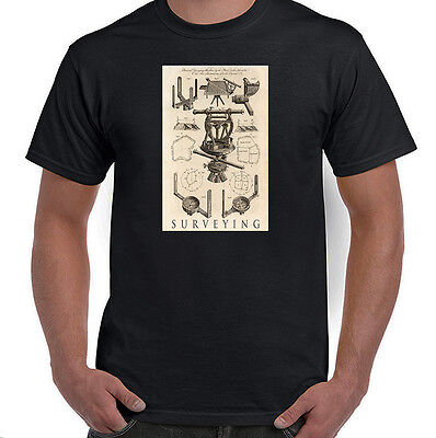 Surveying Equipment, Antique Illustration, T-Shirt, All Sizes & Styles, NWT
