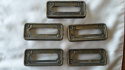 Lot of 5 rectangular drawer pull handles