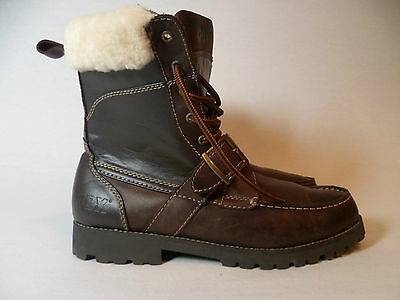 GBX Leather Shearling Winter Ski Buckle Snowmobile Outdoor Sports Boots Mens 9