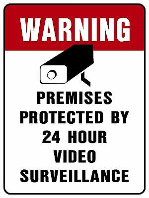 Polystyrene Video Survellience Sign