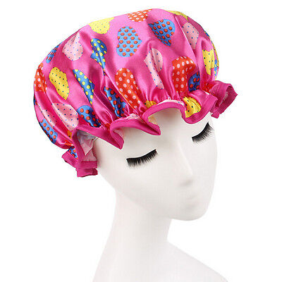 Comfort Shower Caps Elastic Satin Bathing SPA Hair Dry Cover Turban Protect Hood