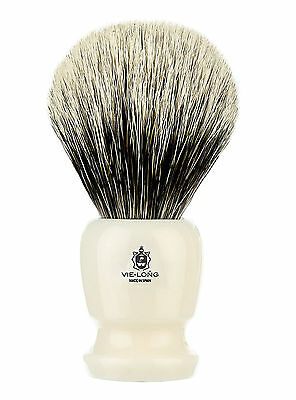 Brocha de afeitar Vie-long Pelo Natural Tejon Blanco Super Badger 2 Bandas 16728