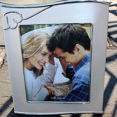 """Lenox Forever More Silver-Plated 8"""" X 10"""" Photo Frame"""