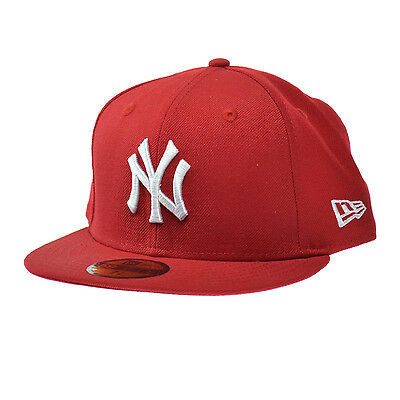 fe35b575310 NEW ERA NEW York Yankees MLB Basic 59FIFTY Cap Red White Fitted Hats ...