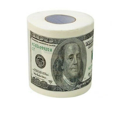 New One Hundred Dollar Bill Toilet Paper Novelty Fun $100 TP Money Roll Gag Gift
