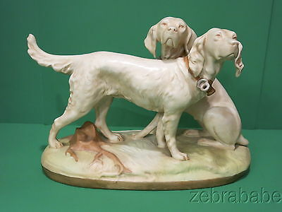 Royal Dux Setter Pointer Dog Figurine Sculpture