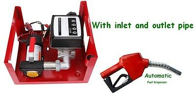 Fuel Transfer Pump Station 12V DC 10GPM Diesel kerosene Dispenser 155W