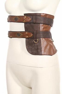 steamPunk revolution floating continent paisley leather wench belt w/pouch SP092