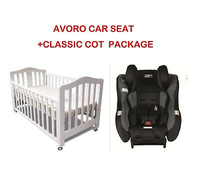 Classic COT & Avoro Car Seat 0 to 4 years CRIB  BABY TODDLE JUNIOR BABY BED